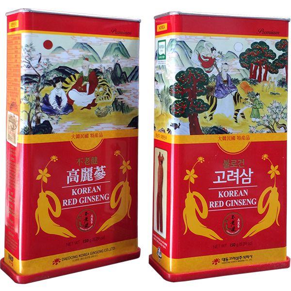 Hồng sâm khô hộp thiếc Daedong 150 gam Hàn Quốc